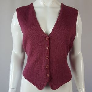 Vintage Mauve Sweater Vest Tank Top